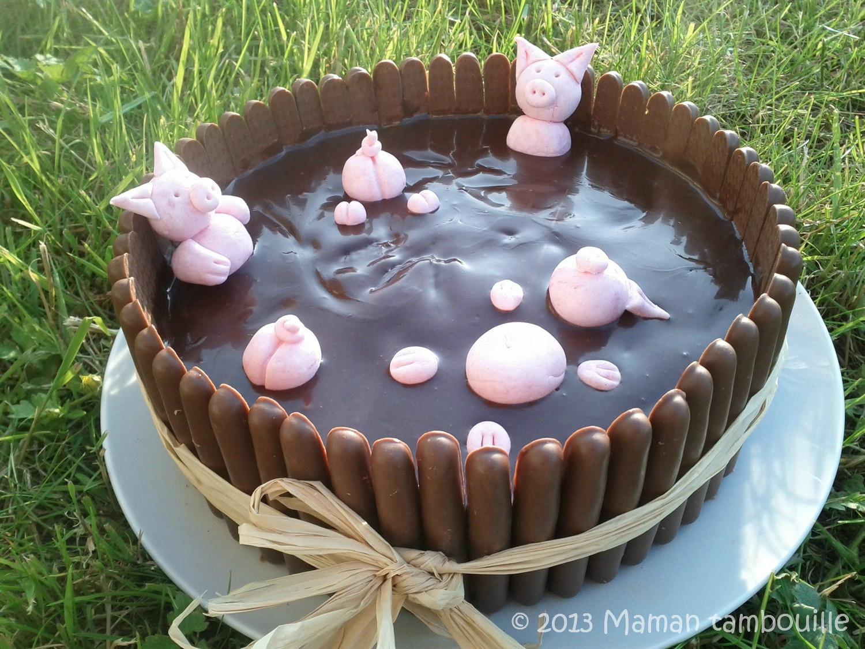 Gâteau le bain des cochons