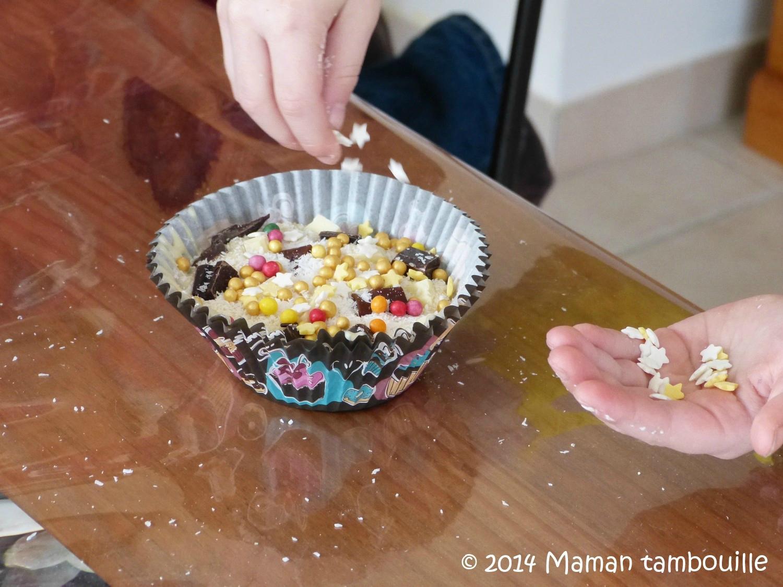 Atelier muffins avec des petites mains