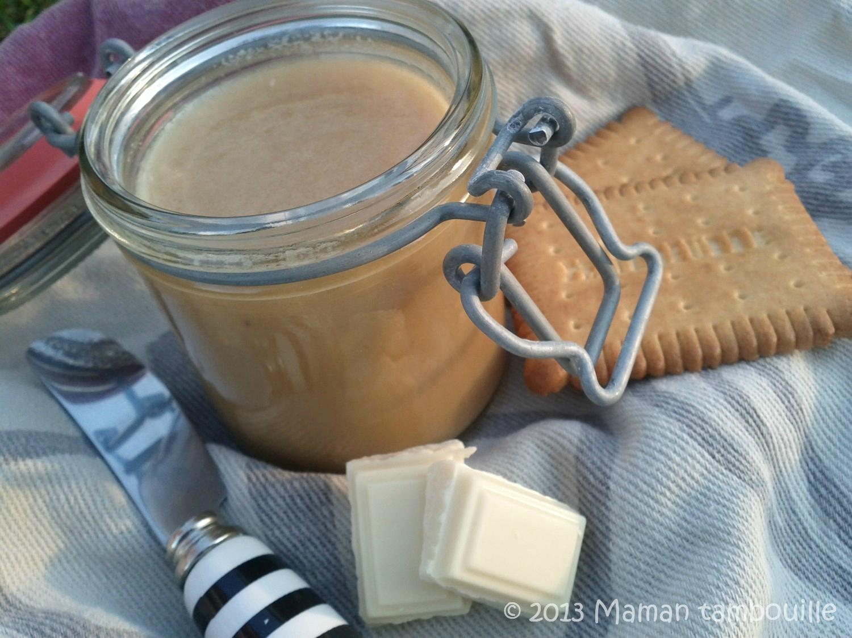 Pâte à tartiner au chocolat blanc et au miel