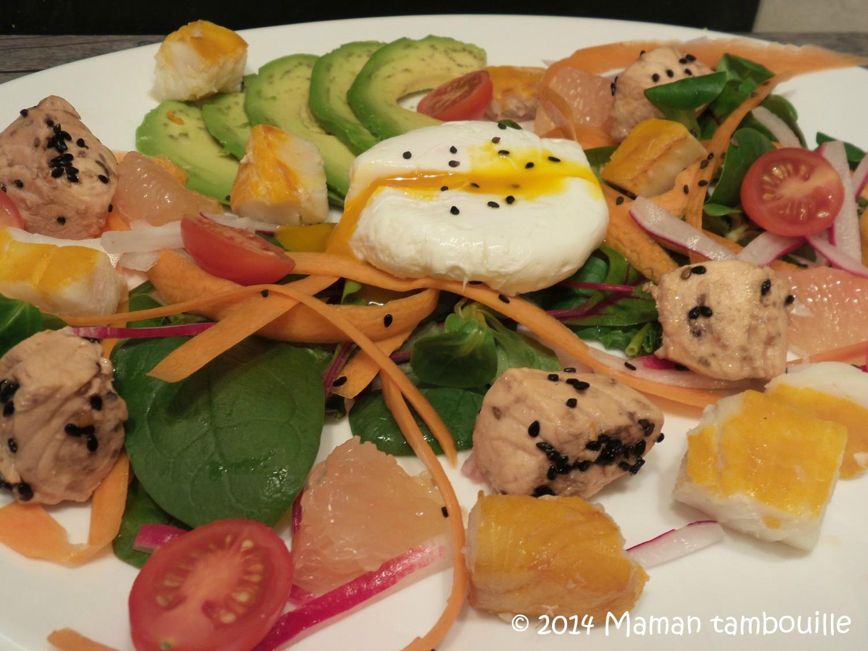 Salade de la mer duo saumon/haddock