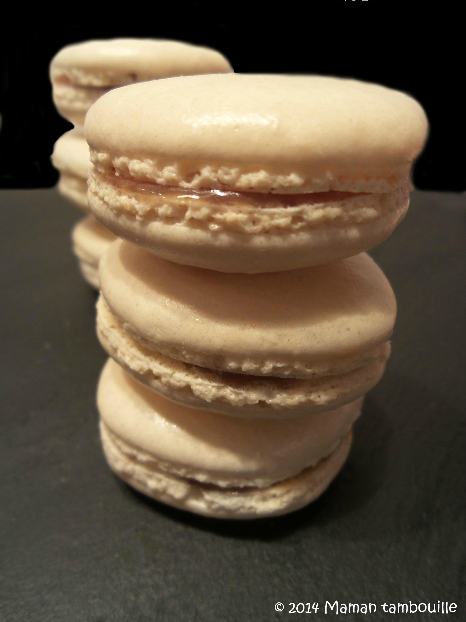 Macarons coeur caramel au beurre salé
