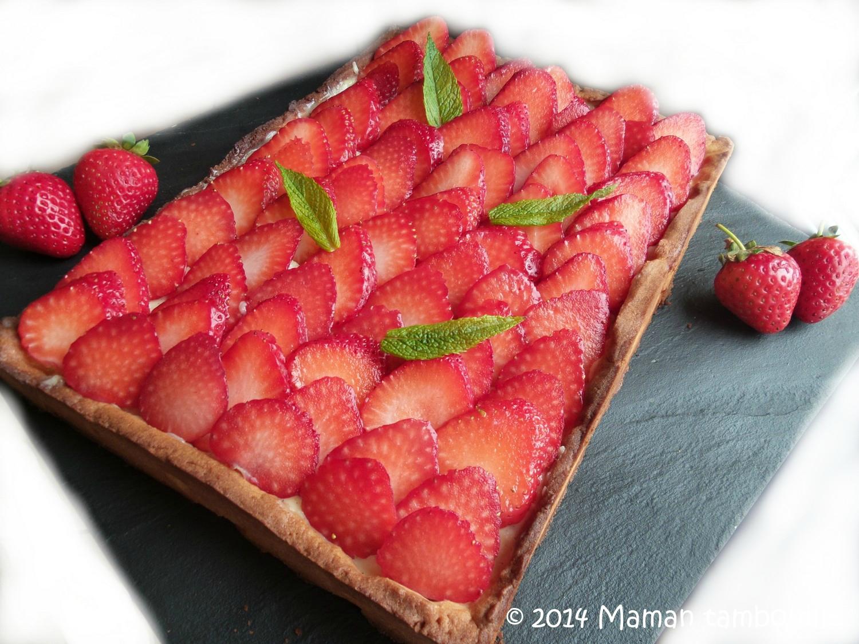 Tarte aux fraises pâte sucrée de Pierre Hermé