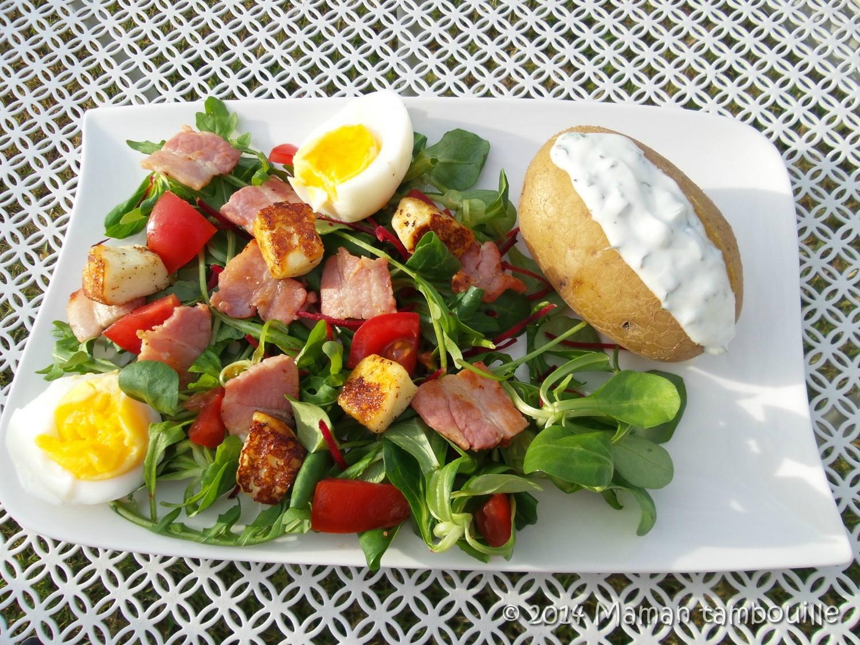 Salade gourmande et sa pomme au four