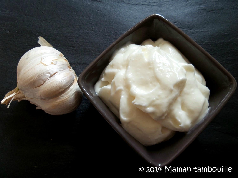 Sauce blanche à l'ail libanaise