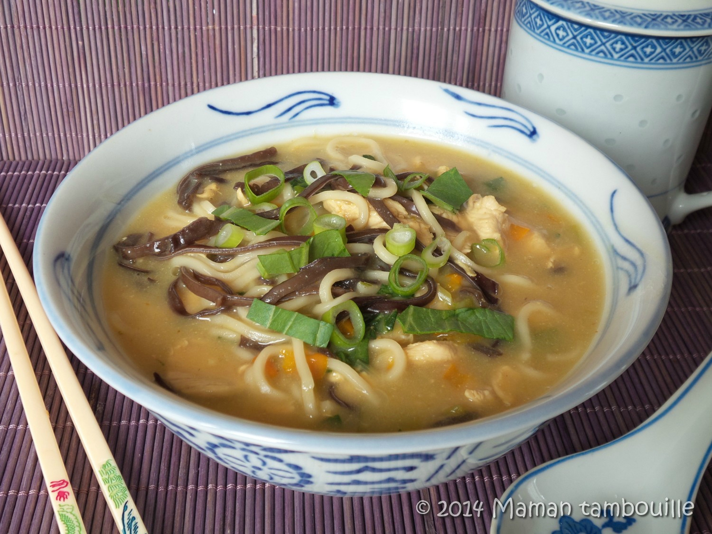 Soupe façon asiatique au poulet