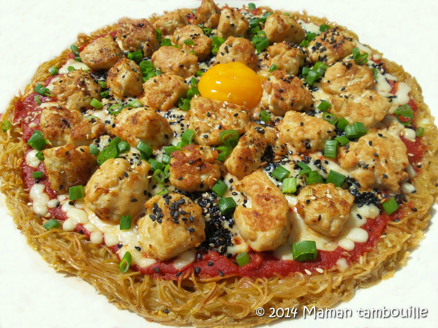 You are currently viewing Ramen pizza
