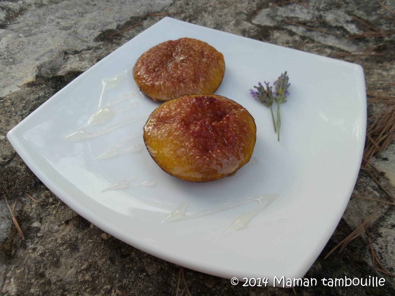 Figues rôties au miel de lavande