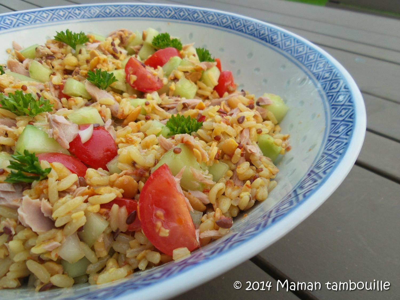 Salade de riz et céréales