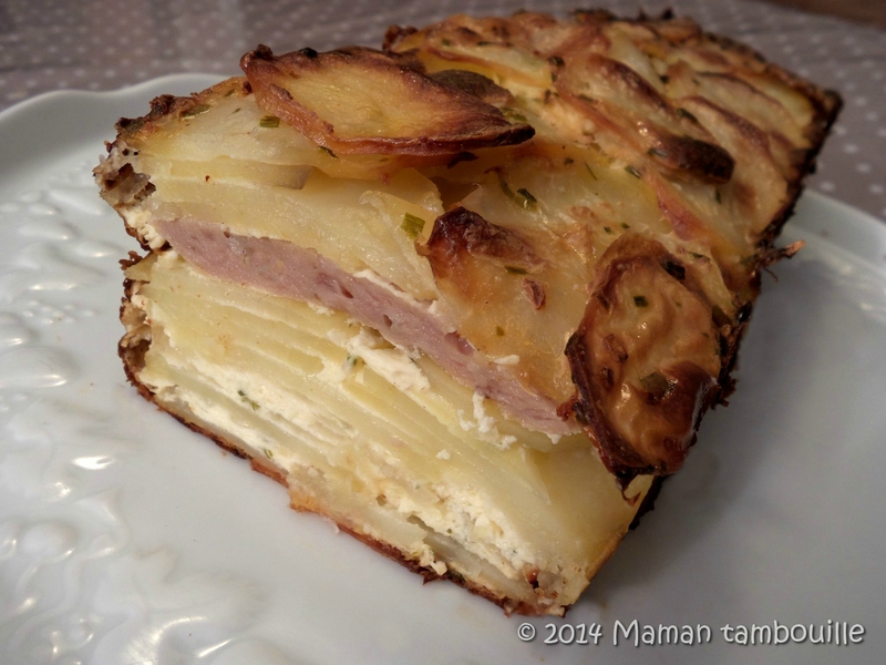 Terrine de pommes de terre au pâté Hénaff