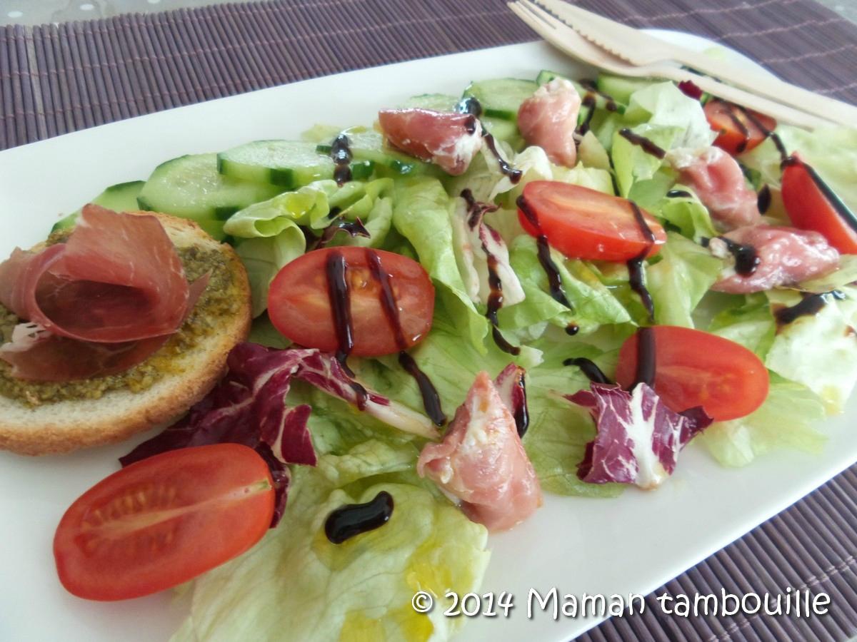 Salade aux involtinis