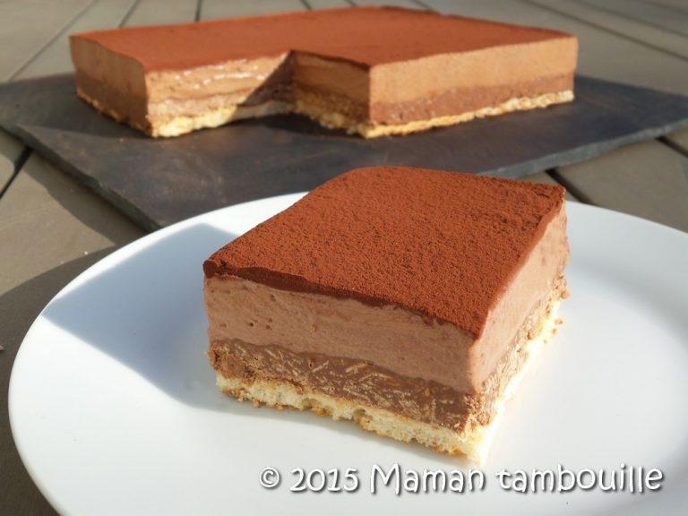 Entremet craquant au chocolat caramel