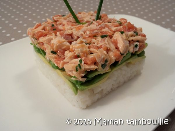 Faux tartare de saumon au riz