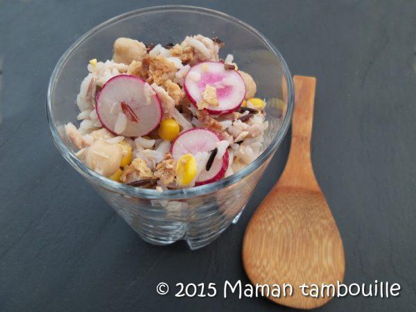 Salade de riz et pois chiche