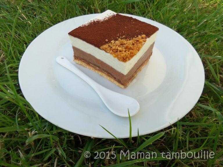 Entremet chocolat caramel nougat