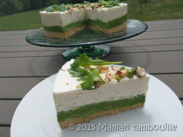 Cheesecake aux petits pois
