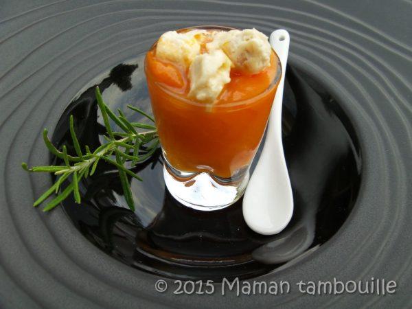 Compotée d'abricot au romarin éclats de nougat
