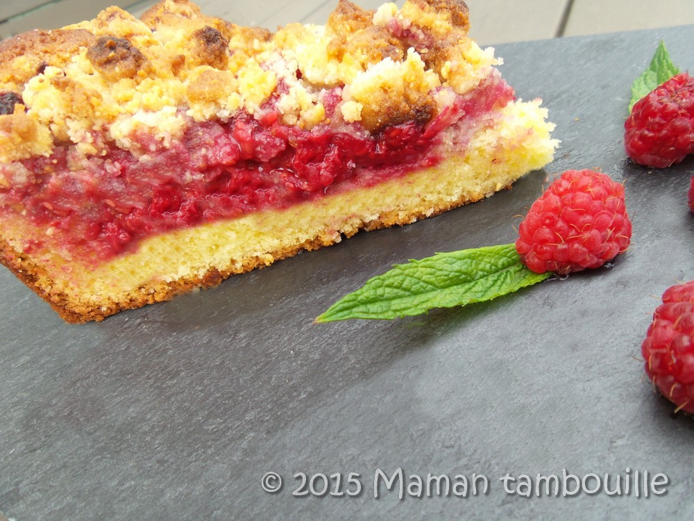 You are currently viewing Gateau crumble aux framboises