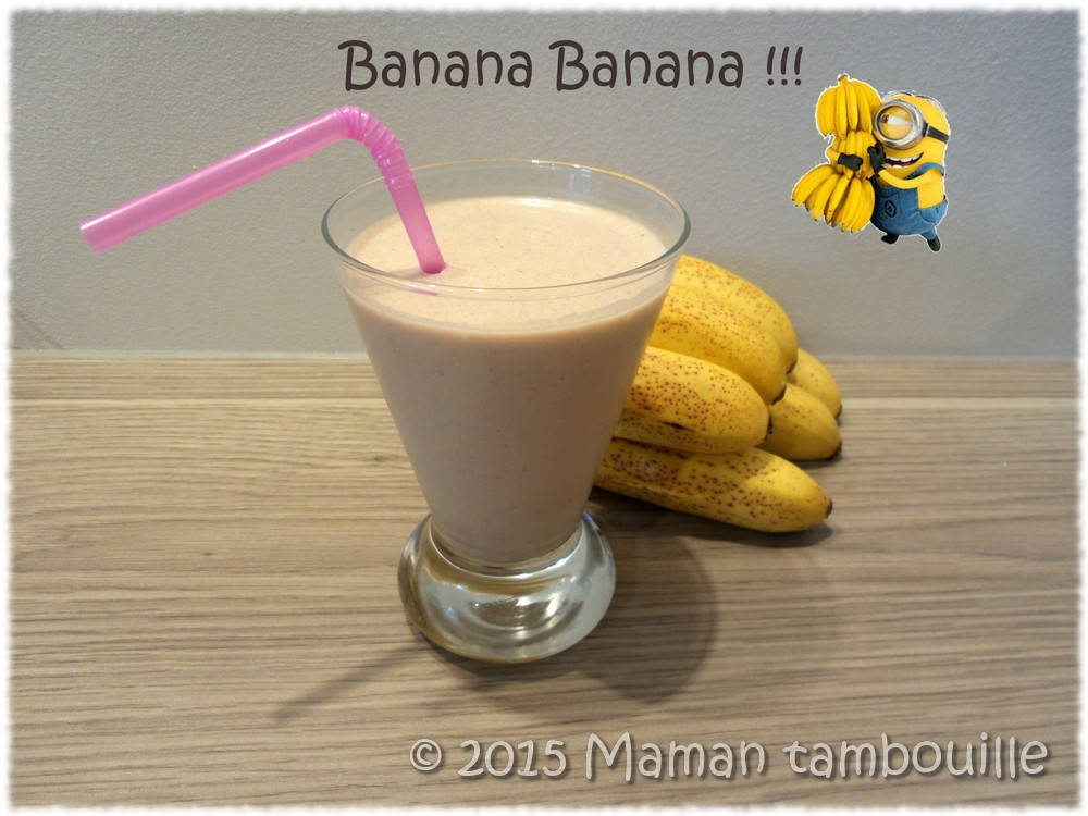 Milkshake banane pâte à tartiner