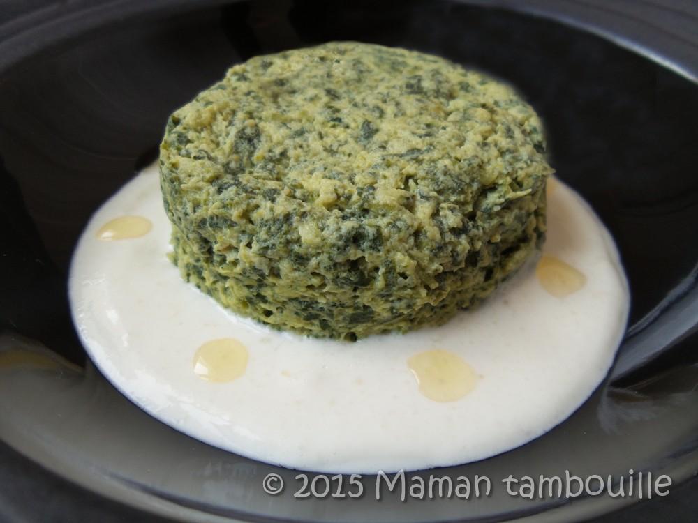 Mousse de cresson crème à l'ail et parmesan
