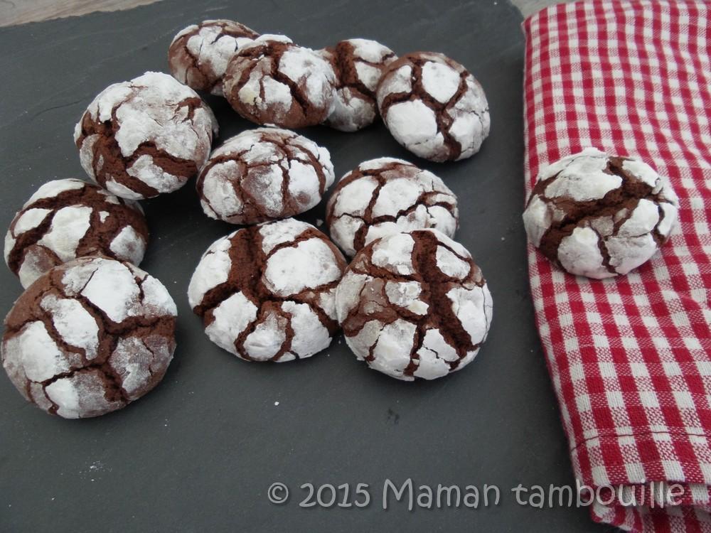 Crinckles au chocolat caramel