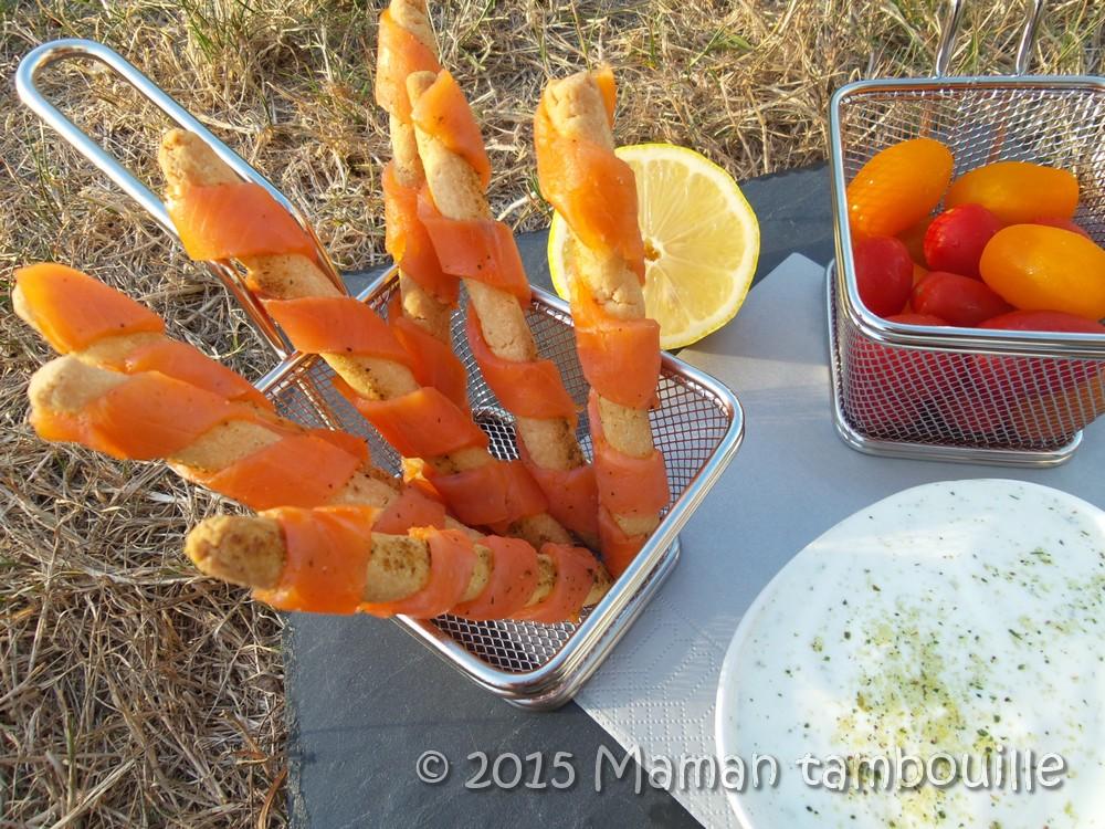 Amaresticks au saumon fumé