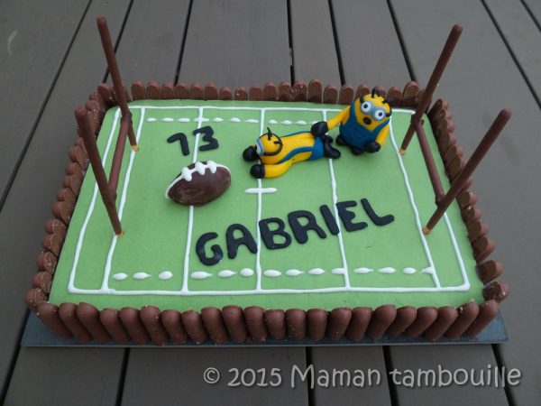 Gâteau rugby des minions