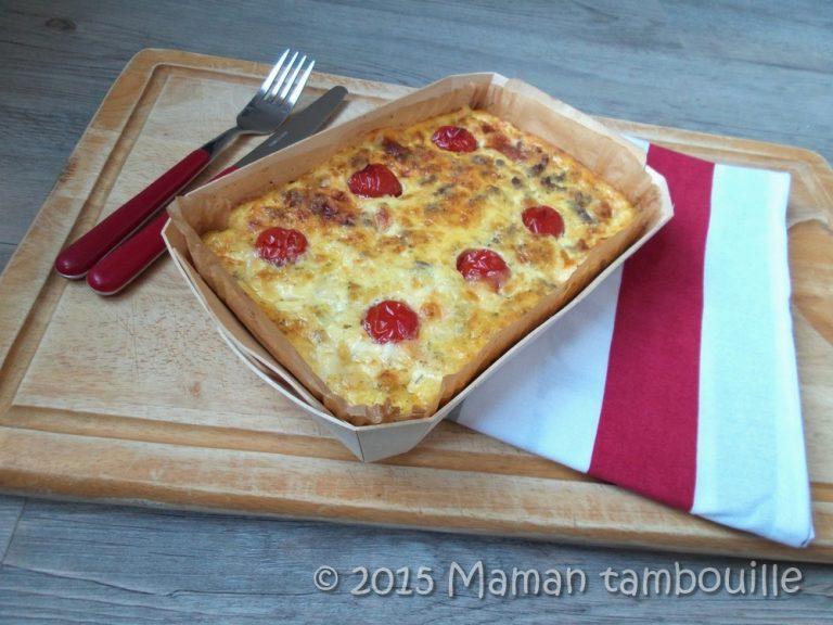 Read more about the article Quiche sans pâte bœuf mozza