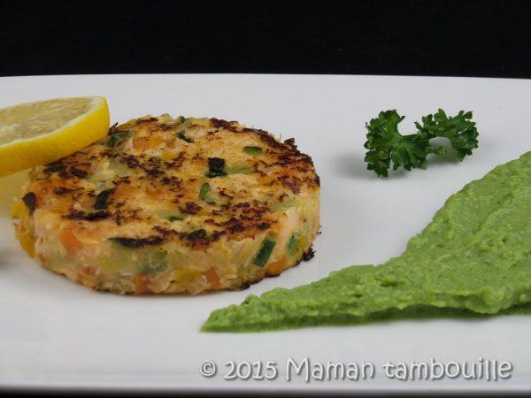 Steak de saumon aux petits légumes