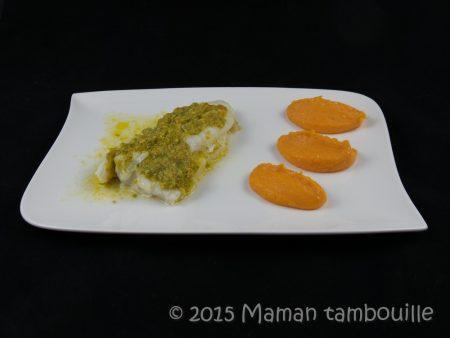 cabillaud au beurre de pistache truffé11
