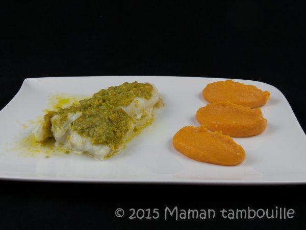 Cabillaud au beurre de pistache truffé