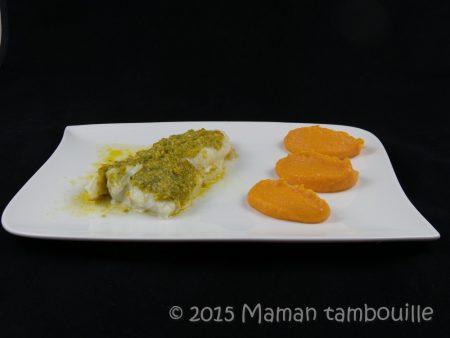 cabillaud au beurre de pistache truffé14