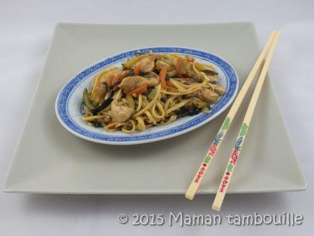 wok nouilles sautees poulet12