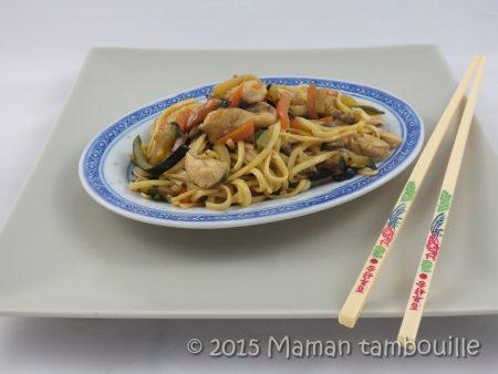 wok nouilles sautees poulet13