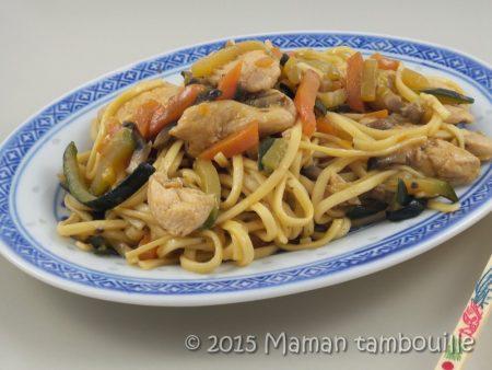 wok nouilles sautees poulet14