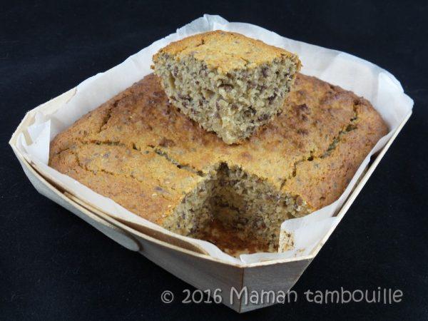 Cake à la banane et graines de chia {sans gluten}