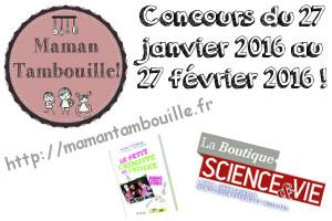 Concours avec la boutique science et vie {partenariat}