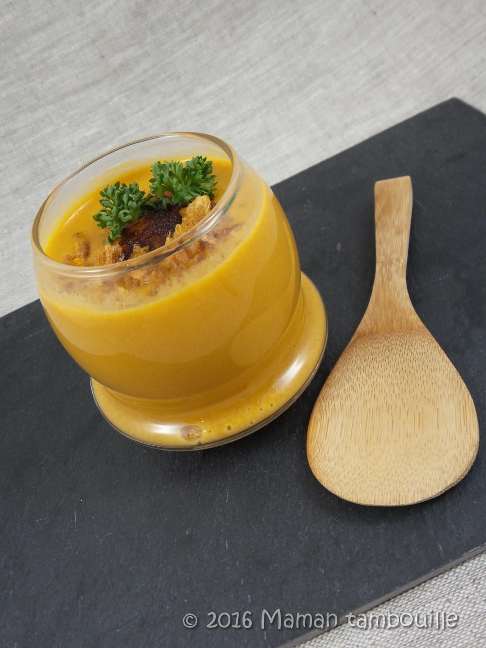 Crème de carottes à la farine de châtaigne