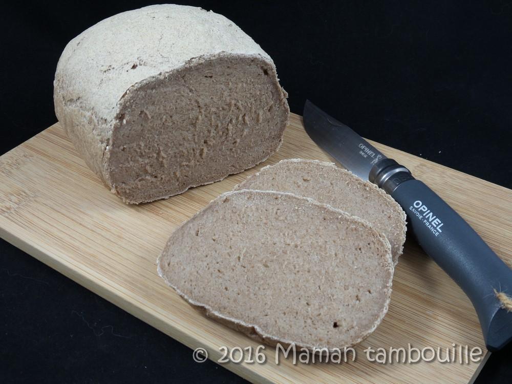 Pain à la farine de teff {sans gluten}