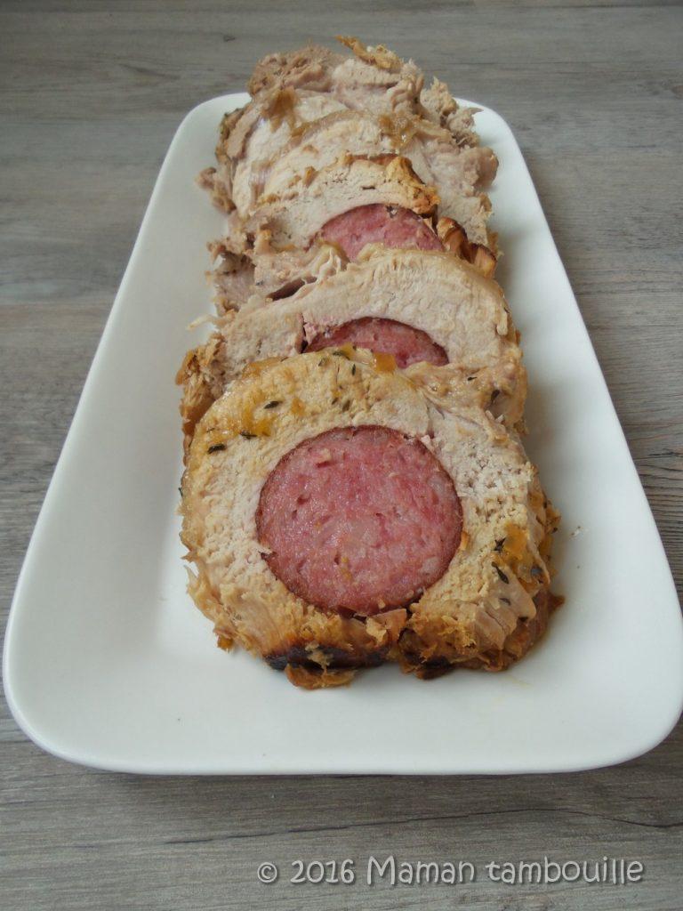 Read more about the article Rôti de porc à la saucisse de morteau