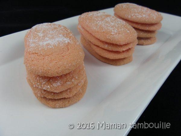 Biscuits roses à la fraise