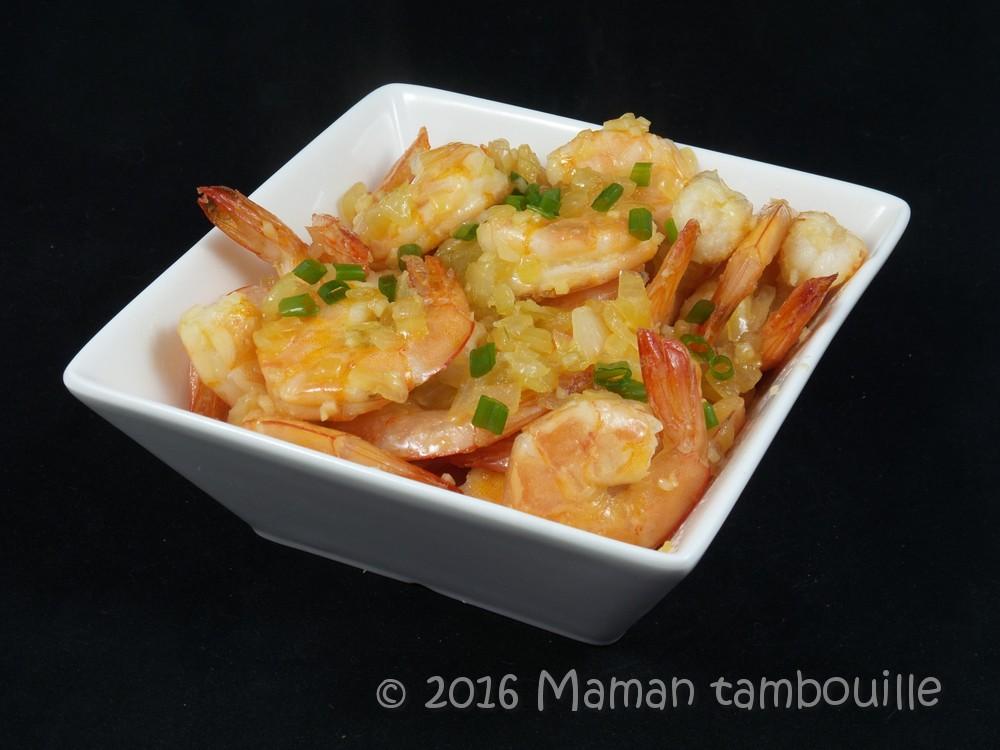 Crevettes sautées poivre et sel