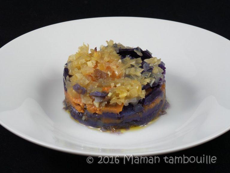 Read more about the article Gratin de patate douce et vitelotte