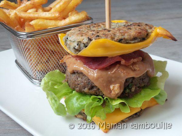Rice burger {sans gluten}