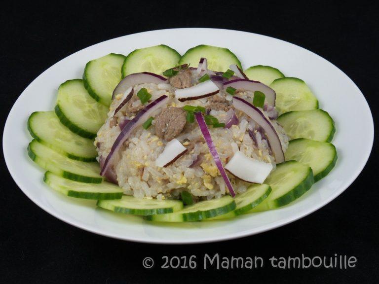 Riz thaï frit au boeuf