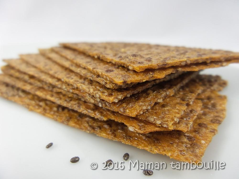 Crackers passion graines de chia {sans gluten}
