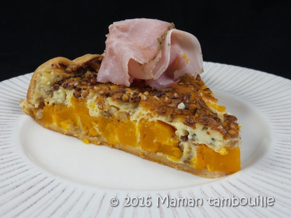 Read more about the article Tarte butternut fourme d'ambert et sarrasin