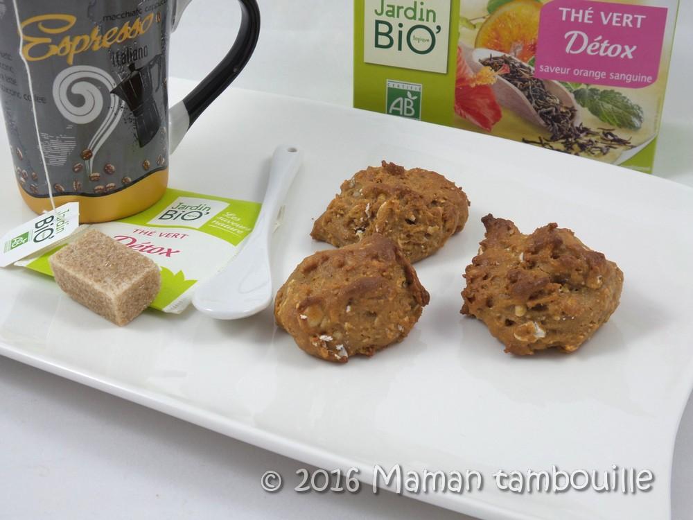 Biscuits avoine et purée d'amande