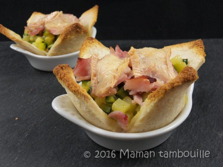 Read more about the article Fleurs de pain de mie à la courgette
