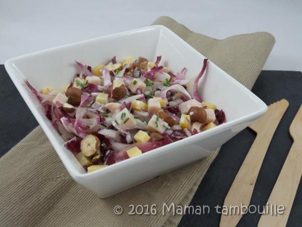 Salade d'endive au beaufort et noisettes