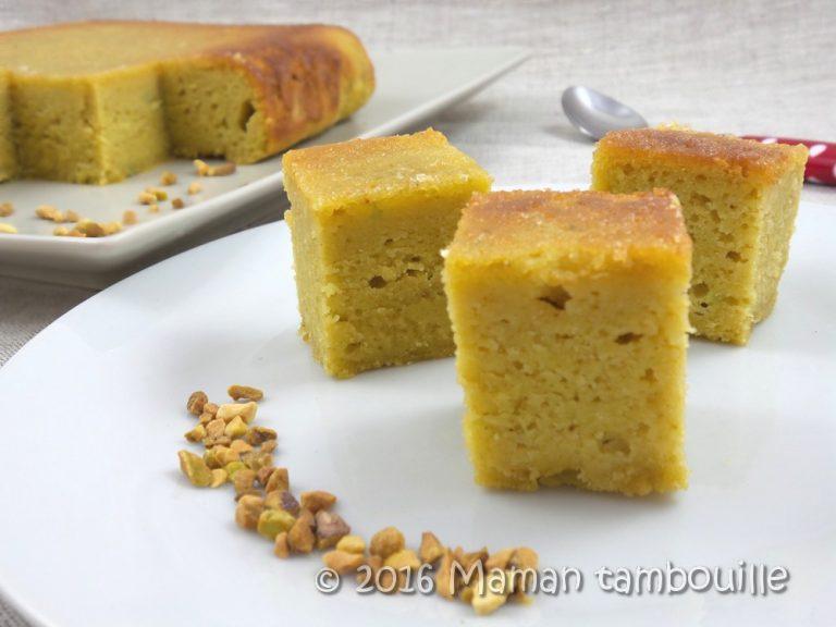 Gâteau ricotta pistache saveur baklawa